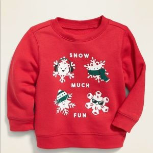OLD NAVY HOLIDAY GRAPHIC SWEATSHIRT FOR BA…